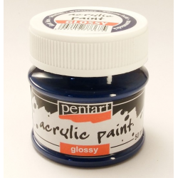 PEN-2030   Farba akryl lesklá- Tmavo modrá 50ml