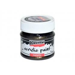 PEN-3504   Farba akryl – Zlatá trblietavá metalická