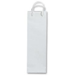 CHTB9 Taška papierová biela  na fľašu 95x65x380mm
