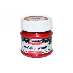 PEN-3554   Farba akryl -Bordová metalická 50ml