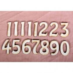 PEN-5516 Drevené čísla na hodiny 0-9 10ks
