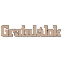 PEN-32171 Drevný nápis - Gratullalok 3ks 10cm