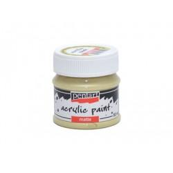 PEN-20981 žltá vintage matná akryl farba 50ml