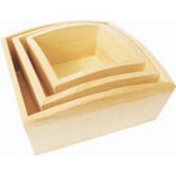 PED-5800 drevené misky 3ks 18x18x7,5cm