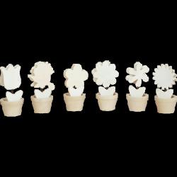 PEN-5903 Drevené štipce - kvety 6ks