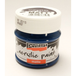 PEN-13110 Farba akryl Indigo modrá 50ml matná