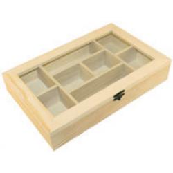 PEN-8037 Drevený box 8 dielny 30x19x5,5cm