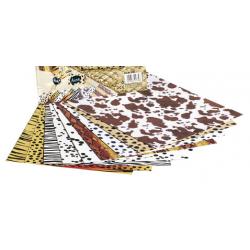 FOL-5789  Mix 10ks 25x35 zvieratá 300g papier
