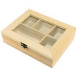 PEN-8038 Drevený box 5 dielny 20,5x16x5,5cm