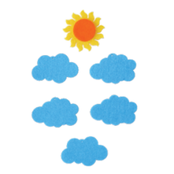 PEN-23212 Oblaky filcová figurka