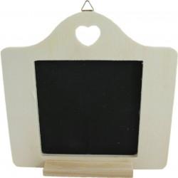 PEN-10309 drevaná tabuľka so srdiečkom 15x15,2cm