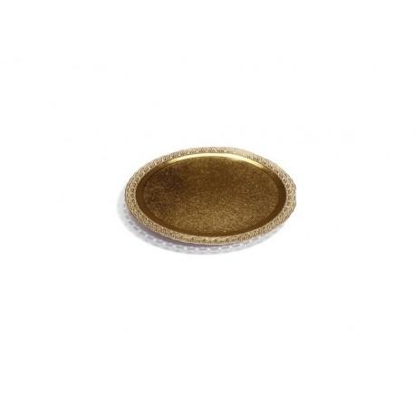 PYCG12 Tortový podnos zlatý 12cm