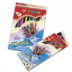 ES-49040 Farebné ceruzky trojhranné 18ks