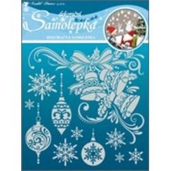 AN-10062 dekorácia vianoce 18x18cm snehový efekt