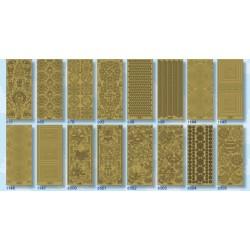 STF-ZL2 Zlaté ozdoby nálepky 10x23cm/12ks