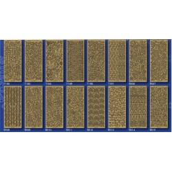 STF-ZL3 Zlaté ozdoby malé nálepky 10x23cm/12ks
