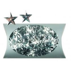 AN1975-1 3D hviezdy stieborné konfety 20g/1,5cm