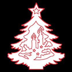 PEN-22876 Drevené figúrky vianoce 5ks