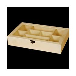 PED-10304  Box s 8 priehradkami 30x19x5,5cm
