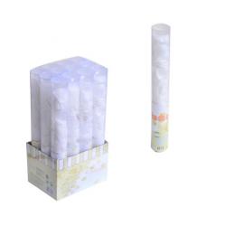 PF-32346 Biele lupene vystrelovacie konfety 60cm