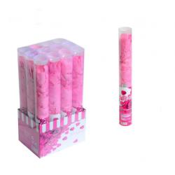 PF-32348 Ružové lupene vystrelovacie konfety 40cm
