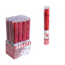 PF-32342 Červené lupene vystrelovacie konfety 40cm