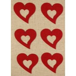 CFA-030 Srdce vzor filc figurka 5ks