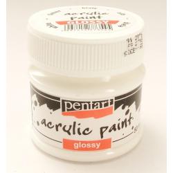 PEN-1169   Farba akryl lesklá-Biela 50ml