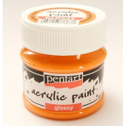 PEN-1933   Farba akryl lesklá- Oranžová 50ml