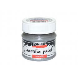 PEN-2217   Farba akryl – Strieborná metalická 50ml