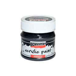PEN-3505   Farba akryl – Strieborná trblietavá meta