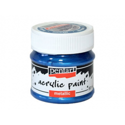 PEN-3530   Farba akryl - Modrá metalická 50ml