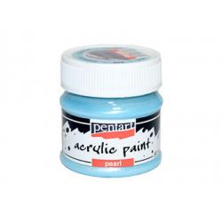 PEN-3534   Farba akryl -Modrá perleťová 50ml