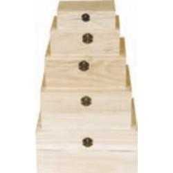 PED-5902  Set boxov 5 kusov 27x23x13cm