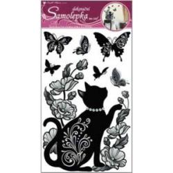 WB-216/10016 Mačky a motýle