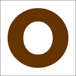 PEN-23674 písmeno O drevené 45mm, 10ks
