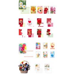 PLU-KO-1 darčekové kartičky 100ks 5,5x7,8cm